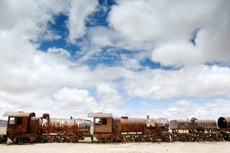 Bolivie Altiplano - Uyuni trains